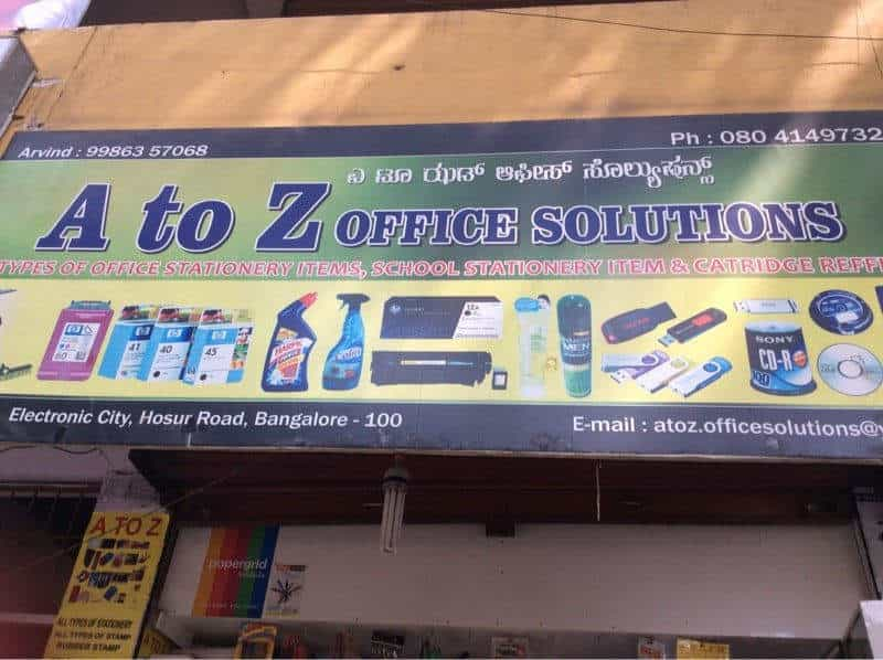 A To Z Office Solutions Electronic City Phase 1 Stationery S In Bangalore Justdial