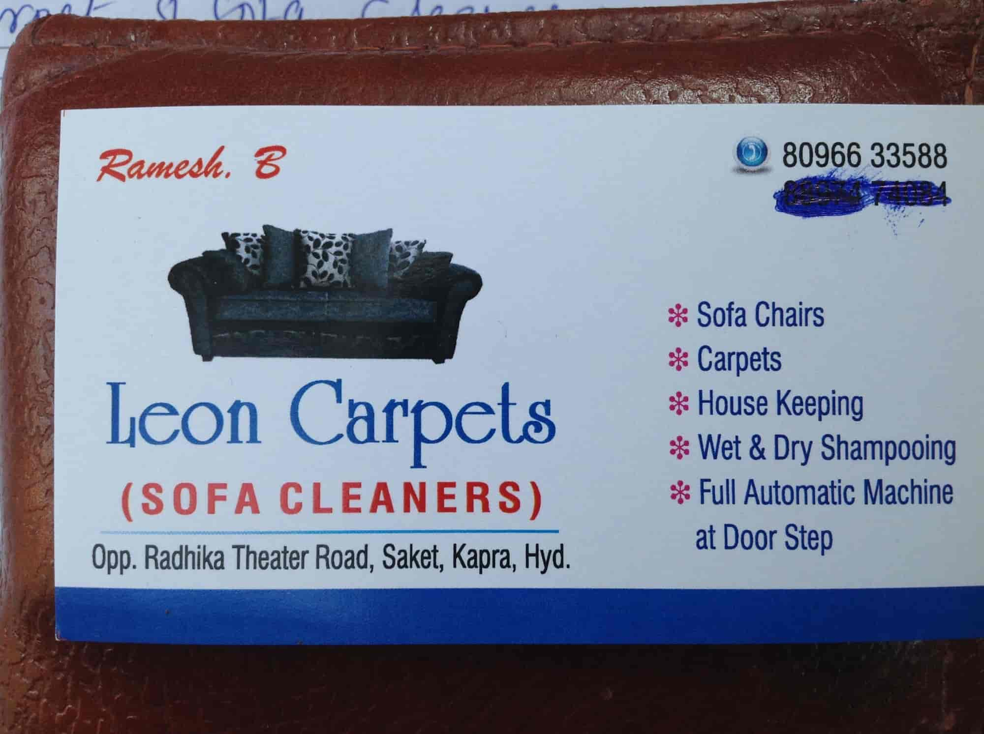 Visiting Card   Leon Carpets U0026 Sofa Cleaners Photos, Yapral, Hyderabad   Sofa  Cleaning ...