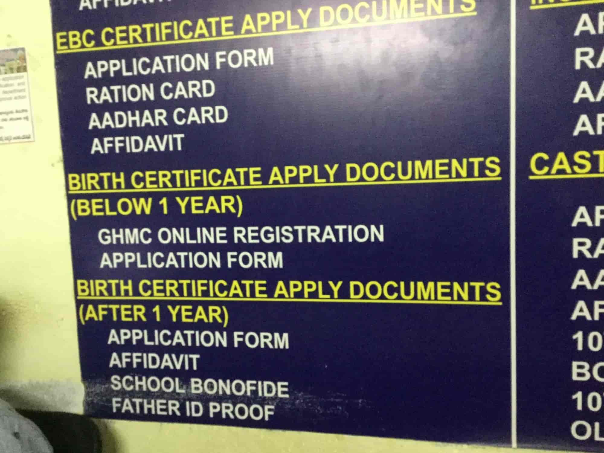 Request For Birth Certificate Letter%0A Mee seva nagole flex printing services in hyderabad justdial yadclub Gallery