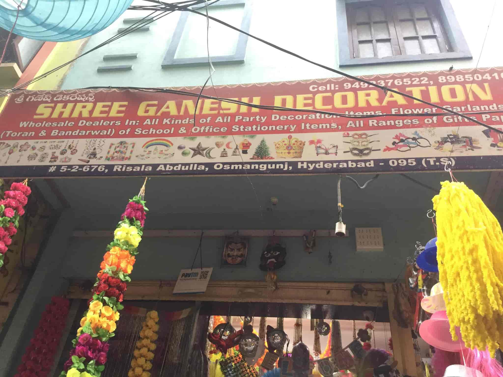 Top 20 Decorative Party Item Dealers in Osmangunj, Hyderabad