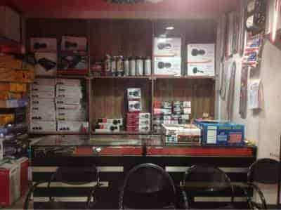 Inside View Of Car Accessories Shop