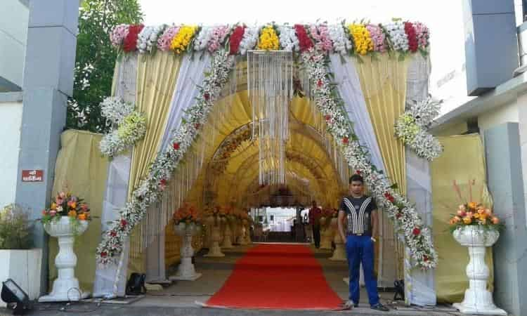 Flower Decoration sagar flower decoration, khadki, pune - stage decorators - justdial