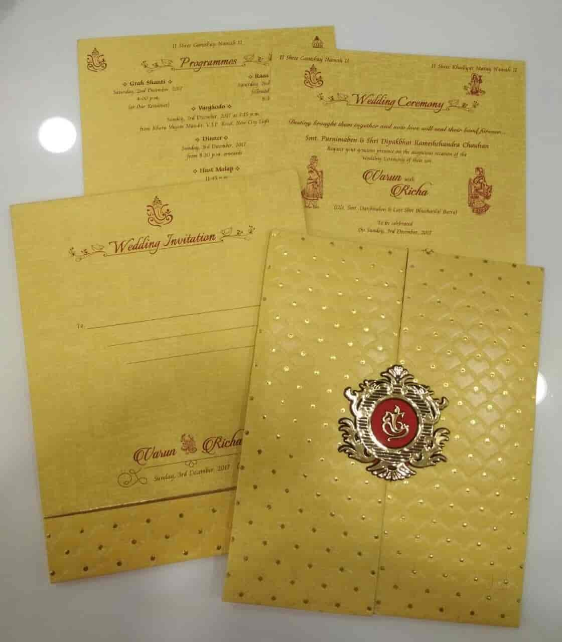 wedding cards in hyderabad general bazar%0A Shivam Agencies Exclusive Wedding Cards Shop  Chauta Bazaar  Wedding Card  Dealers in Surat  Justdial